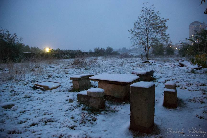 Fotografii prima ninsoare Bucuresti fulgi strada - FotoAurelVirlan e 46