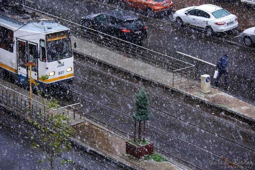 Fotografii prima ninsoare Bucuresti fulgi strada - FotoAurelVirlan e 8