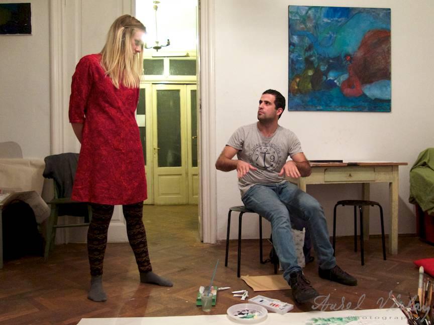 Terapie Pictura Workshop CasaArte - Foto Aurel Virlan - Fiecare student ofera explicatii despre tehnica, sentimente si amintiri.