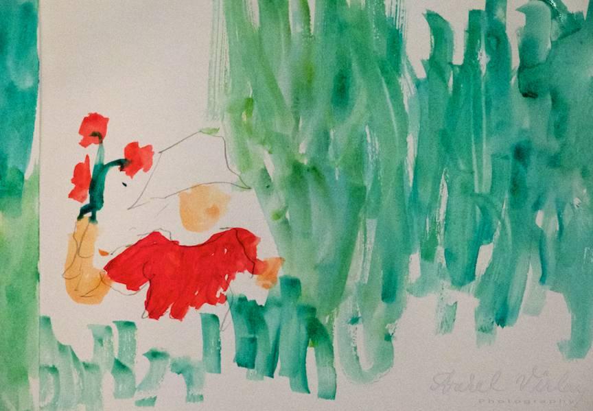 Terapie Pictura Workshop CasaArte - Foto Aurel Virlan - Ultima pictura din serie este facuta fara maini in doar 5 minute. (cu piciorul!)