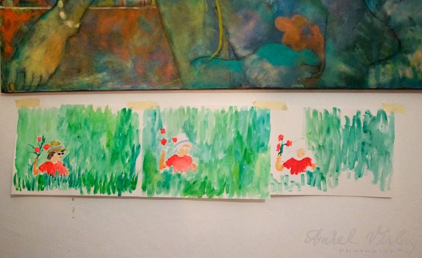 Terapie Pictura Workshop CasaArte - Foto Aurel Virlan - Seria mea de trei picturi expusa discutiilor si intrebarilor.