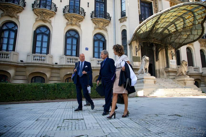 Ambasadorul Italiei la Bucuresti si violonistul Uto Ughi la Muzeul George Enescu.