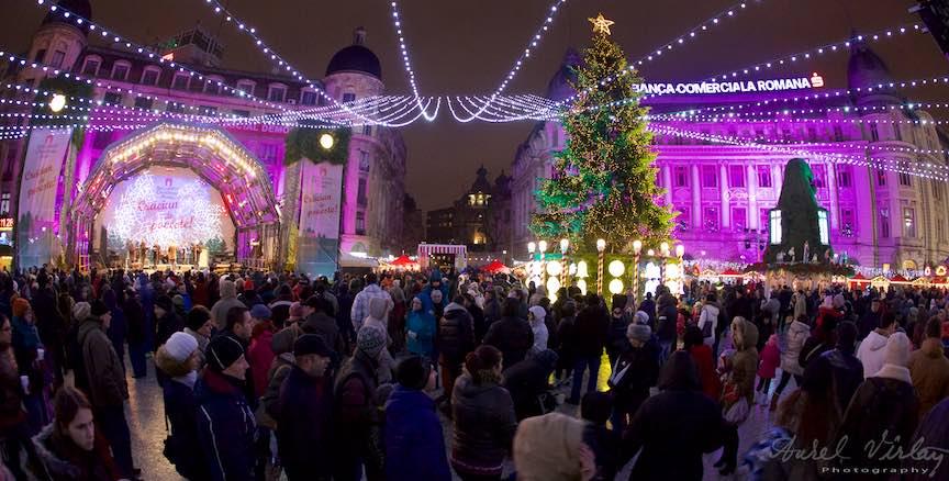 Bucharest Christmas Market 2014 - Fotografie cu  fish-eye Canon 15mm.