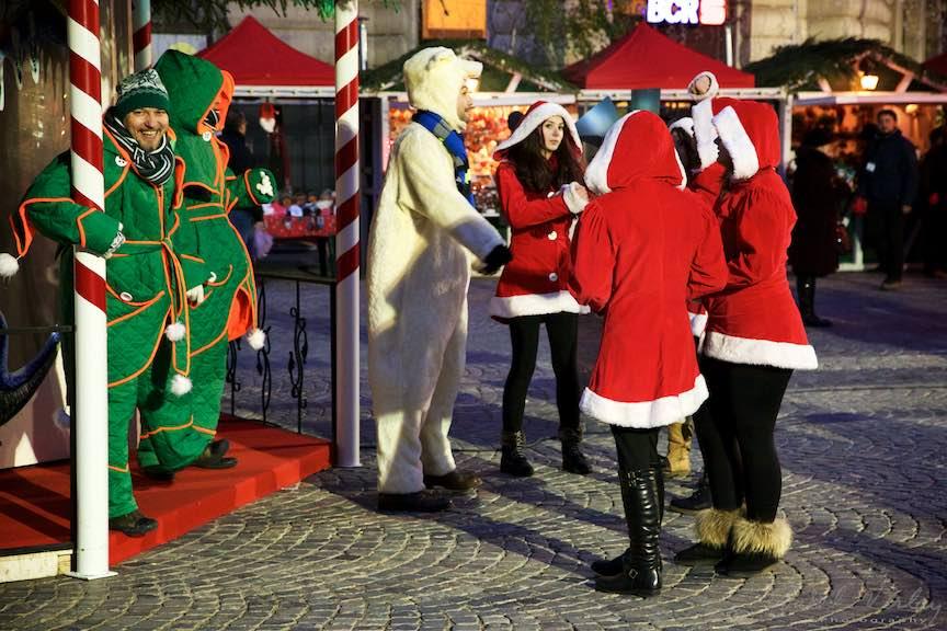 Bucharest Christmas Market Piata Universitatii Bucuresti.
