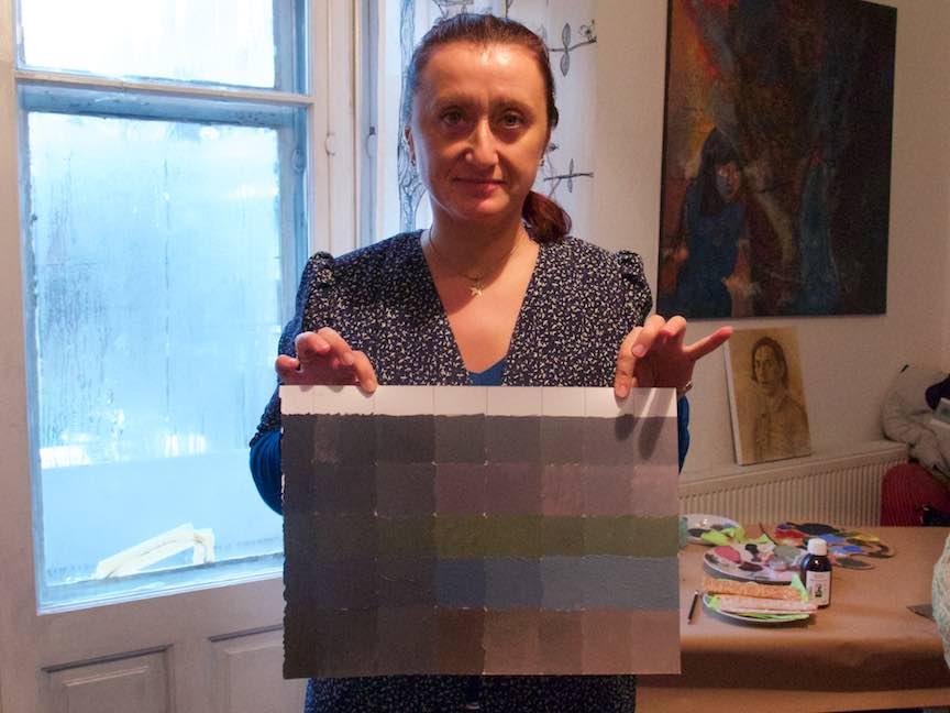 Curs Pictura CasaArte - Foto Web-Size- Griuri si culoare in griul neutru.