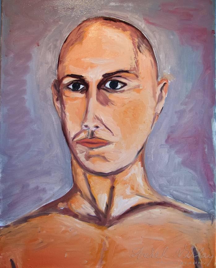 Curs Pictura Portret Casa Arte 3 - Fotograful Aurel Virlan - O interpretare mai aparte (Thea) a aceluiasi portret.0