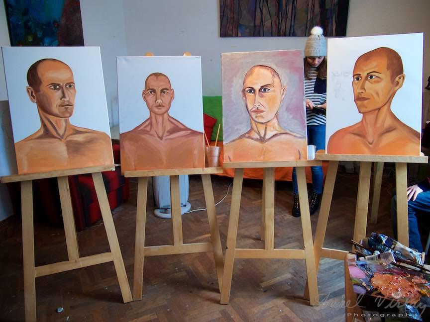 Curs Pictura Portret Casa Arte 3 - Fotograful Aurel Virlan - Rezultatele cursului de pictura dupa model la Casa Arte.
