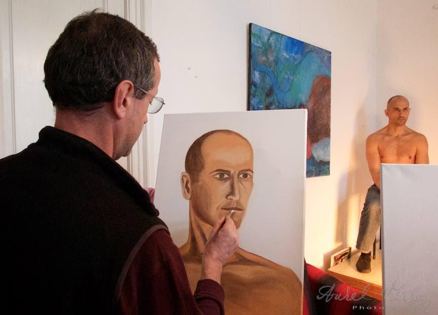 Curs Pictura Portret Casa Arte 3 - Fotograful Aurel Virlan - Emails Fotografie making-of by Radu, profesorul de pictura de la Casa Arte.