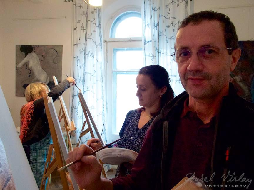 Curs Pictura Portret Casa Arte 3 - Fotograful Aurel Virlan - Intre Fotografie si Pictura. Doua lumi la fel de frumoase!