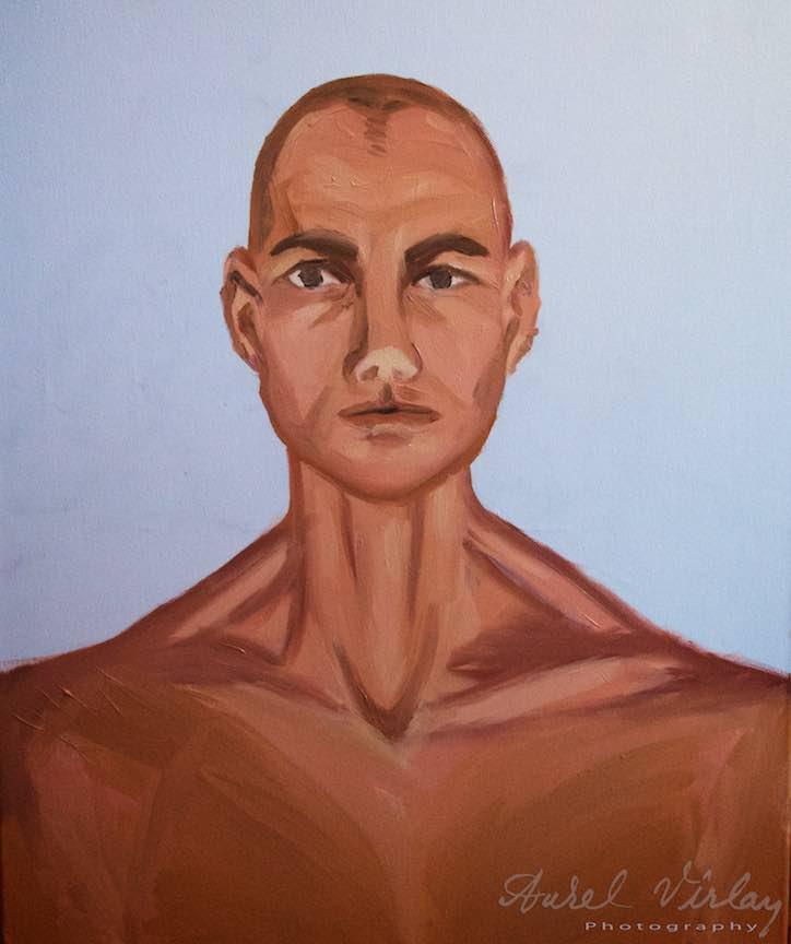 Curs Pictura Portret Casa Arte 3 - Fotograful Aurel Virlan - Acelasi model in viziunea Oanei.
