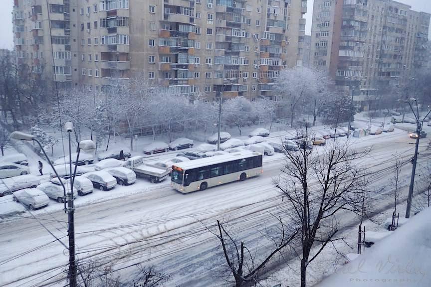 Fotografii ninsoare iarna Bucuresti - fotojurnalism Aurel Virlan - Emails Fotografie de la fereastra mea. Dimineata pe racoare!