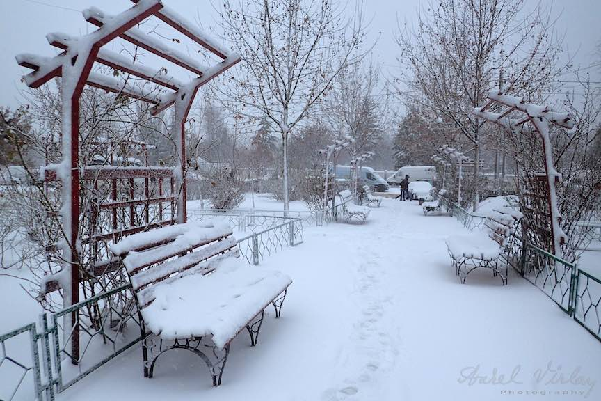 Fotografii ninsoare iarna Bucuresti - fotojurnalism Aurel Virlan - Emails 15Peisaj hibernal la Piata Sudului.