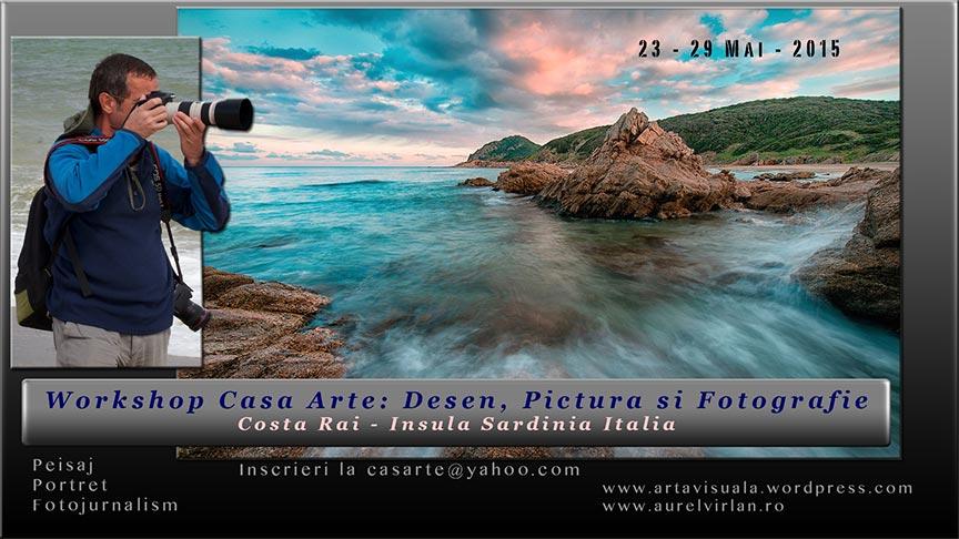 Afis Workshop Fotografie cu Aurel Virlan si Casarte in Costa Rai Italia.