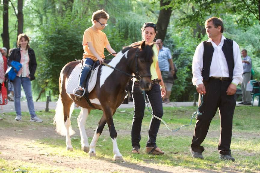Incepem Sambata cu plimbare cu ponei! Si o fotografie Against the light asa cum imi place mie!