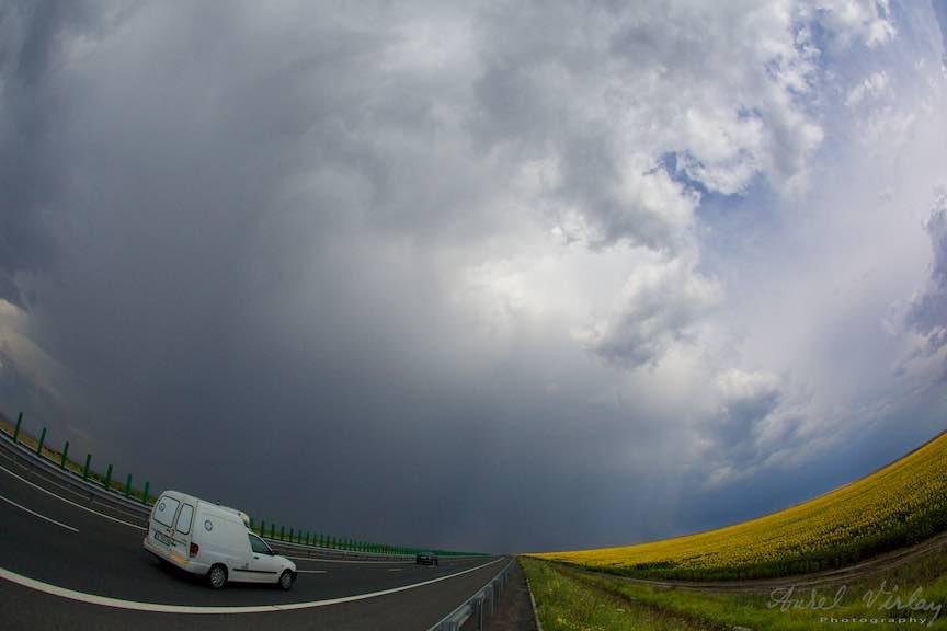 Vama_Veche_Foto_Aurel_Virlan-Autostrada Soarelui vazuta prin Fish-Eye-ul Canon 15mm.