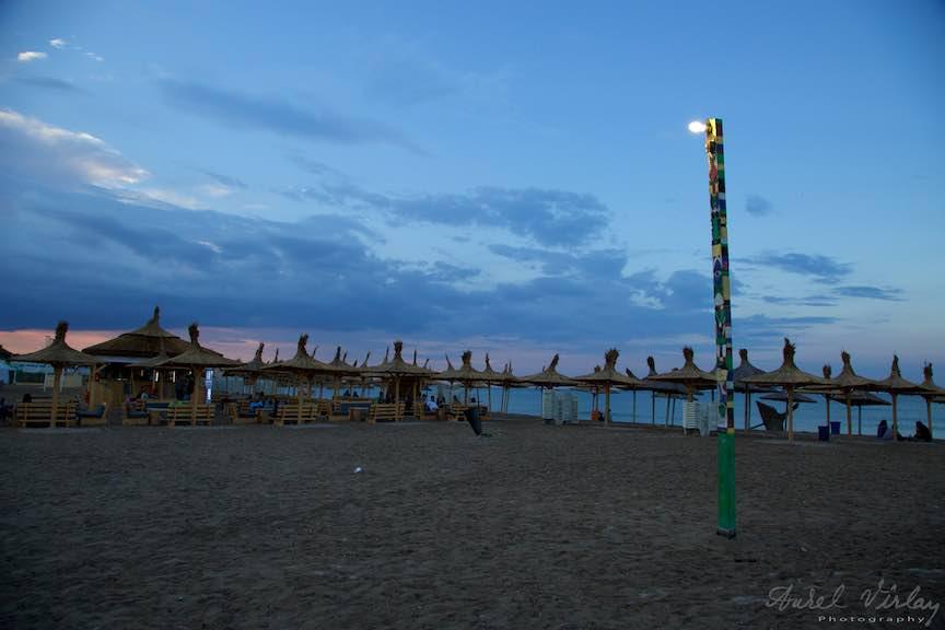 Vama_Veche_Foto_Aurel_Virlan-La Stuf in regim de lumina *Apus de Soare cu nori si stalp*