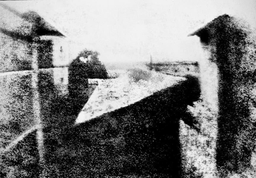 Fotografie pe sticla din 1826! de Joseph Nicéphore Niépce.