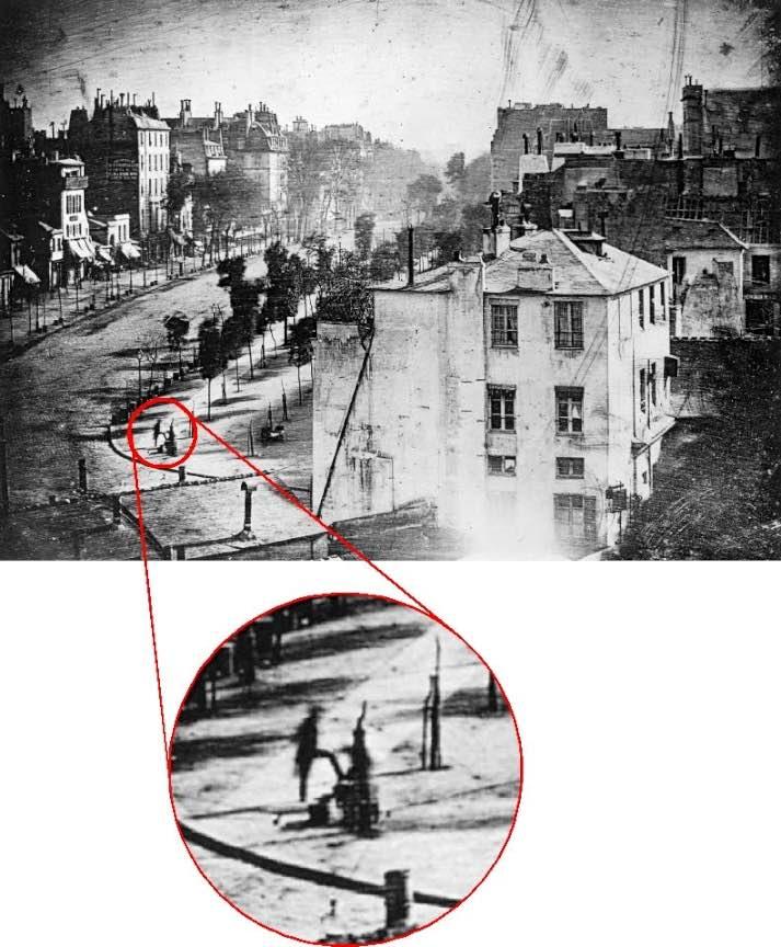 09 Prima fotografie din lume in care apare un om