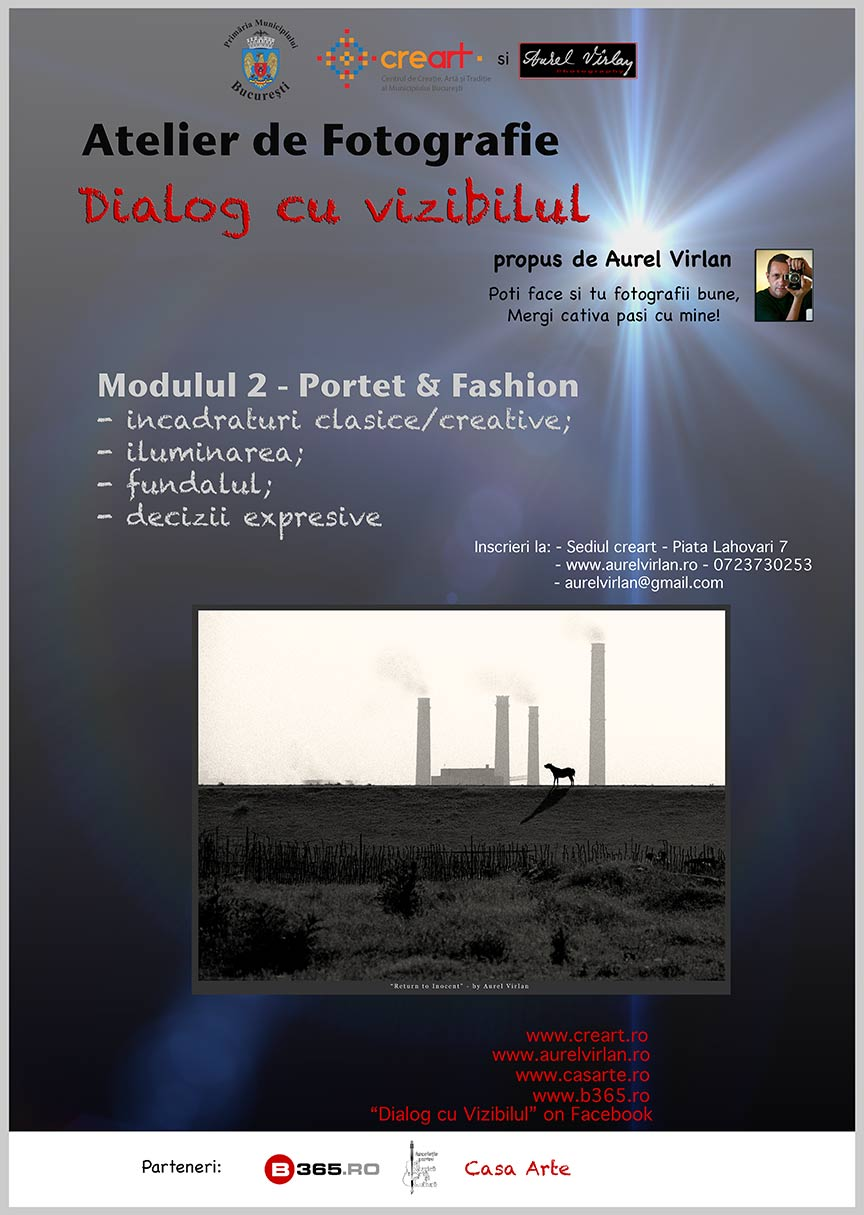 Afisul Atelierului Foto Portret - Fashion