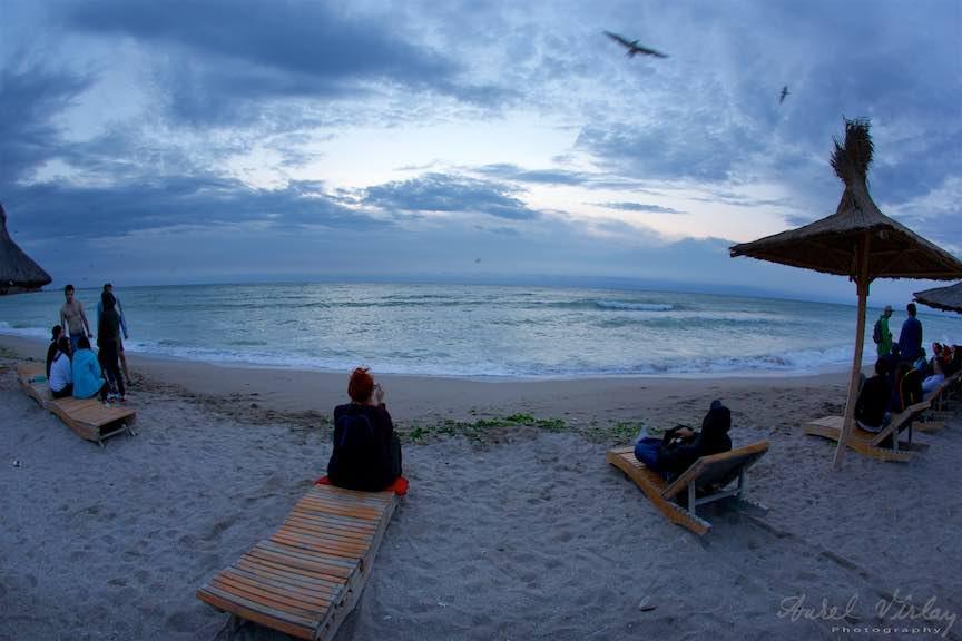 Dimineata devreme pe plaja Stuf.