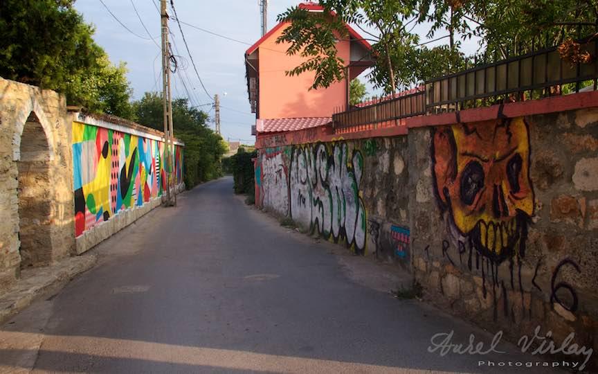 Gardurile de piatra specifice satului Vama Veche intr-o versiune graffiti!